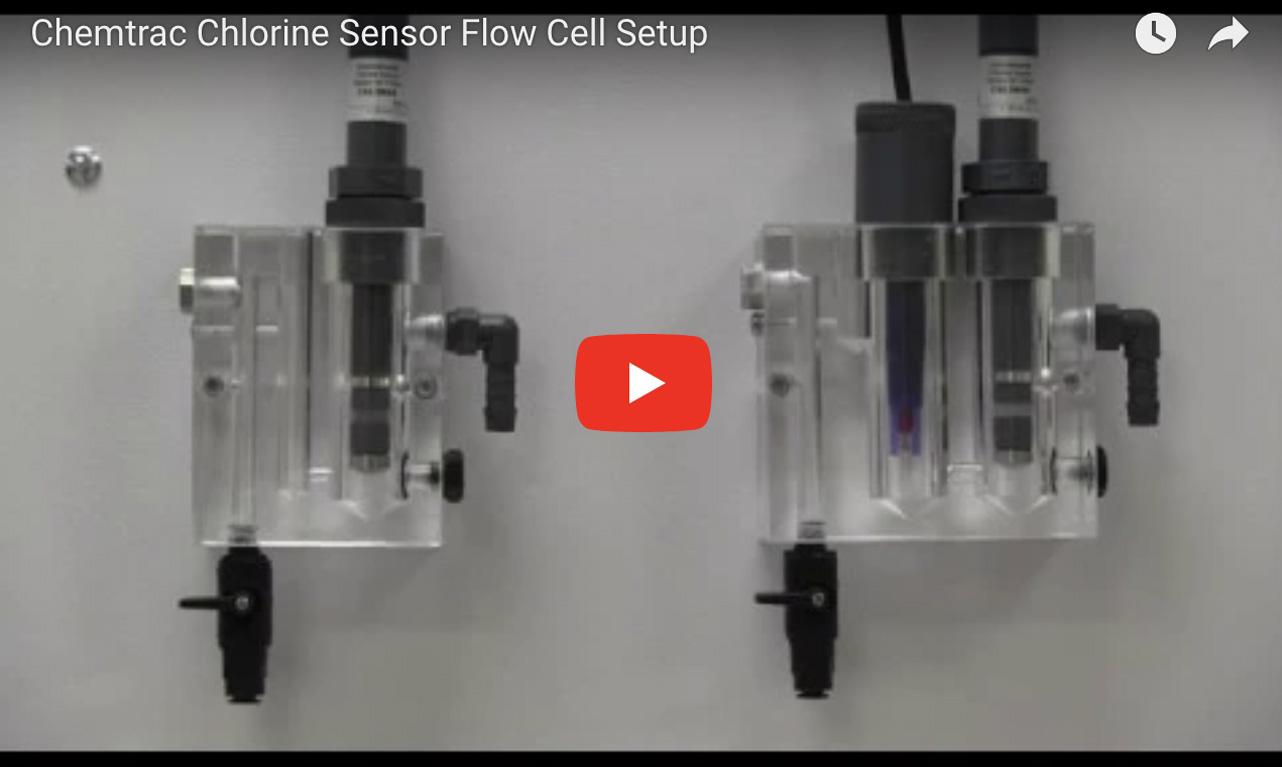 Chemtrac Chlorine Sensor Flow Cell Setup