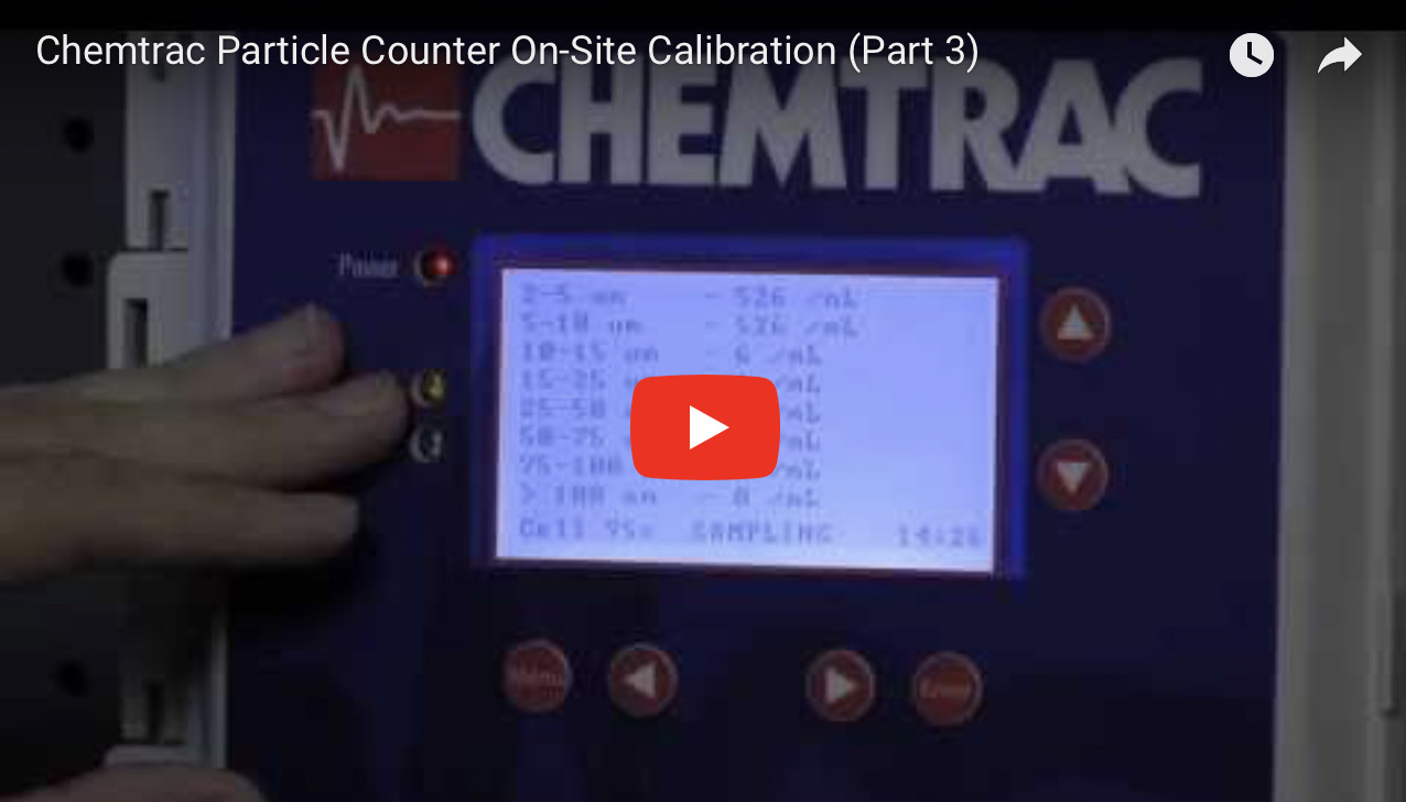Chemtrac Particle Counter On-Site Calibration (Part 3)